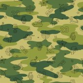 Pattern of military icons Defender of the Fatherland Day