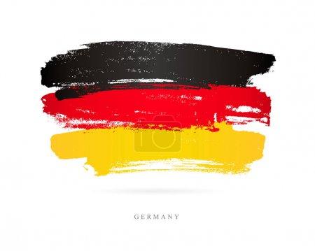 Flag of Germany. Brush strokes