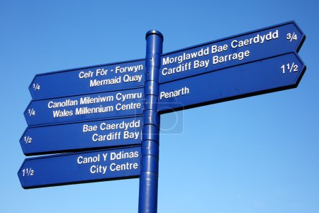 Street Sign, Cardiff