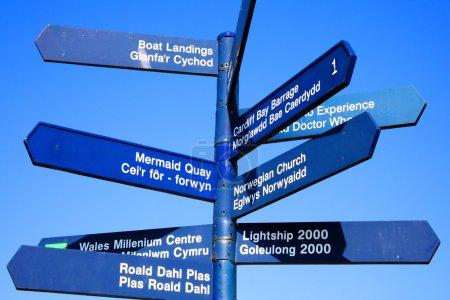 Street signpost, Cardiff