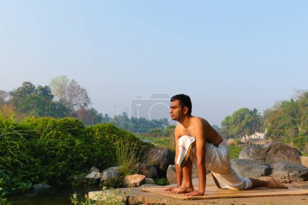 Indian Yogi doing Yoga