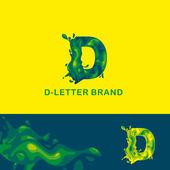 liquid letters D 2