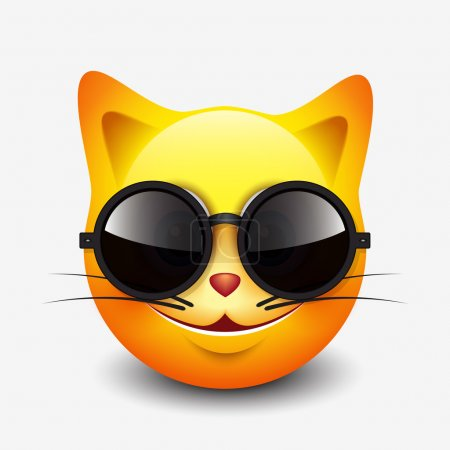 Cute cat emoticon
