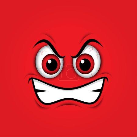 red mad emoticon