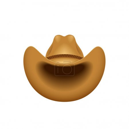 Illustration for Cowboy hat - vector illustration - Royalty Free Image