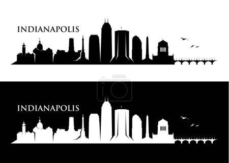 dark silhouettes of Indianapolis