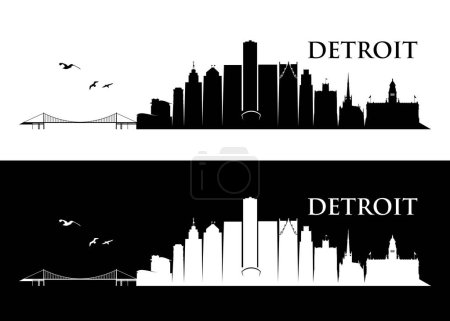 design of detroit skyline