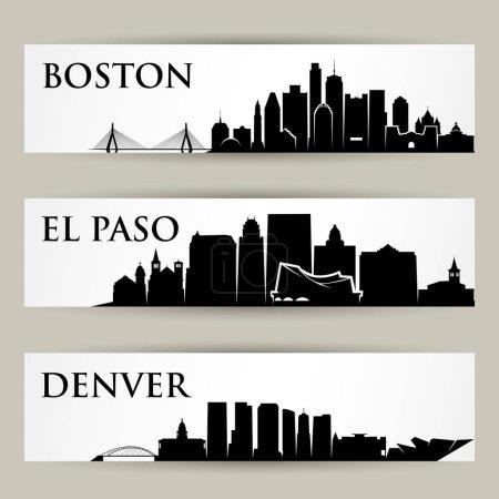 Photo pour Illustration vectorielle conception de villes skylines - image libre de droit