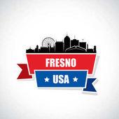 Fresno skyline - California