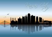 Kansas City skyline - Missouri - vector illustration