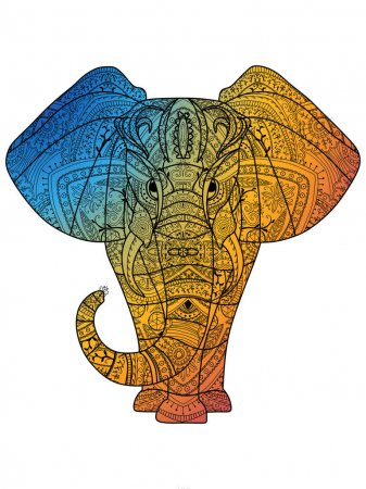 Greeting card with Elephant.