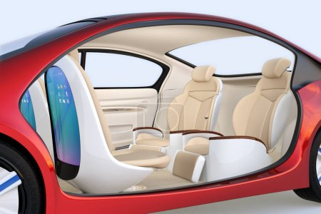 Self-driving car concept image