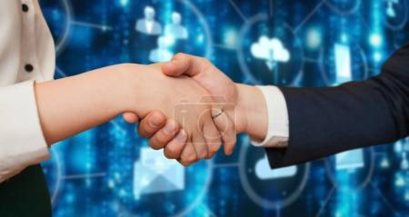 Corporate partners shaking hands