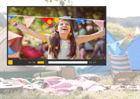 Camping festival fun video player App Interface