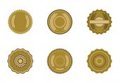 Vector icon set of badges on white background