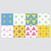 Vector set of colorful patterns against white background
