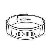 Wearable smart watch bracelet