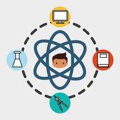 boy school student molecule laboratory