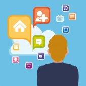 man cloud apps cloud social media