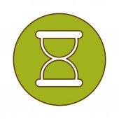 Green symbol loading button design