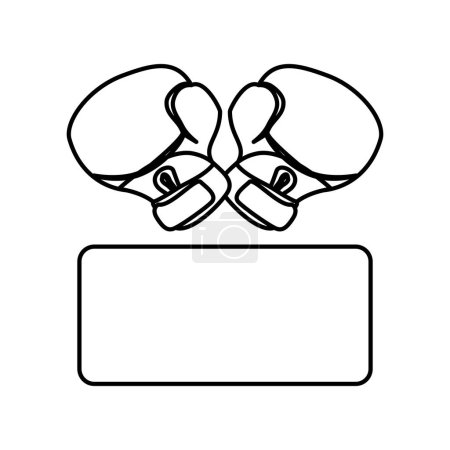 Boxing gloves icon image vector illustration desig...