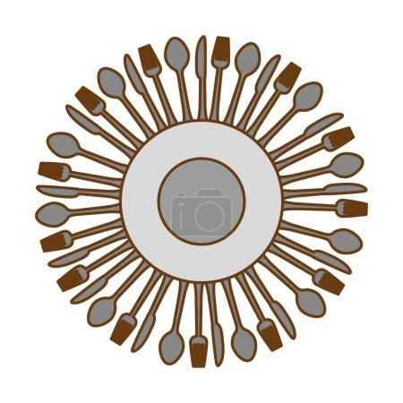 gray kitchen utensils icon image