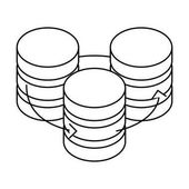 figure database hosting icon image design