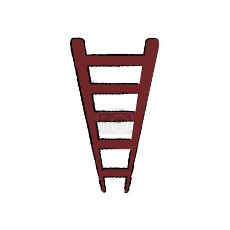 Ladder or staircase symbol icon vector illustratio...