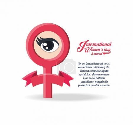 International womens day design with female gender...