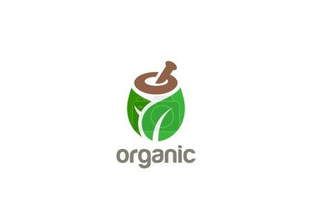 Illustration for Natural Organic Eco Bio Green Logo design vector template - Royalty Free Image