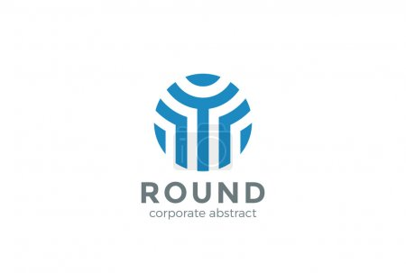 Logo Circle abstract shape