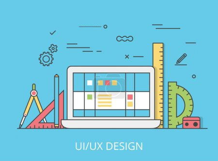 UI/UX interface design web site