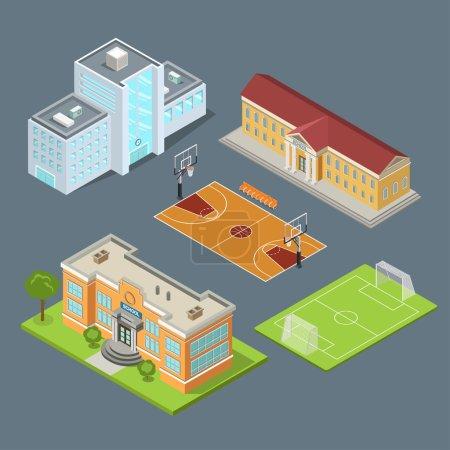 set of school buildings