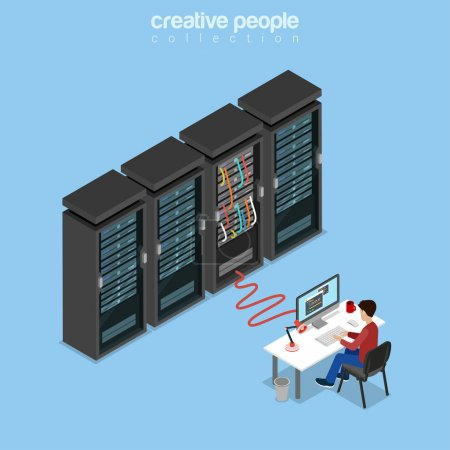 isometric System Administrator,