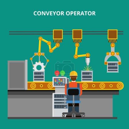 industrial manufacture line conveyor