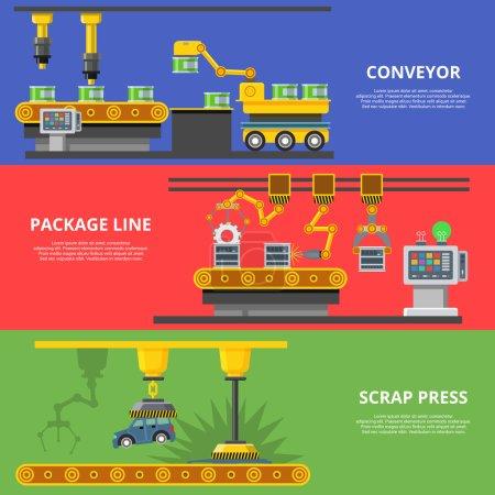 Flat industrial manufacture conveyor