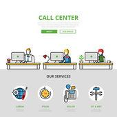 Call center website infographics template