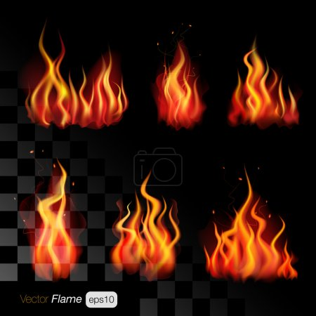 Realistic fire flames
