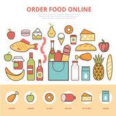 """Постер, картина, фотообои """"Сельское хозяйство продукты Инфографика"""""""