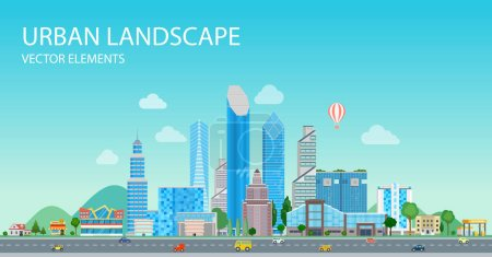 Photo for Vector illustration design of Smart city and Eco life - Royalty Free Image