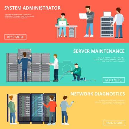 Illustration pour Illustration vectorielle de la conception du serveur informatique réglable - image libre de droit