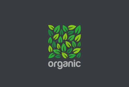 Illustration for Organic business logo, vector illustration - Royalty Free Image