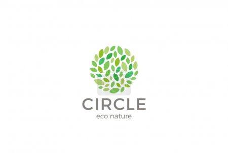 Illustration for Eco nature business logo, vector illustration - Royalty Free Image