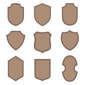Shields vector design elements medieval collection for badge logo emblem