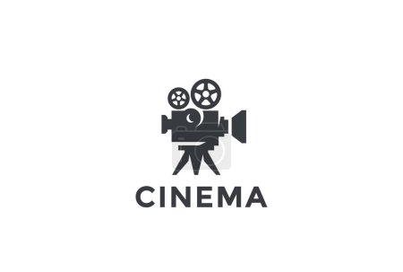 Cinema Old classic Camera Logo design
