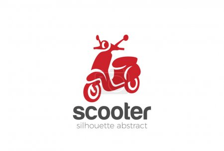 Scooter Logo design silhouette vector