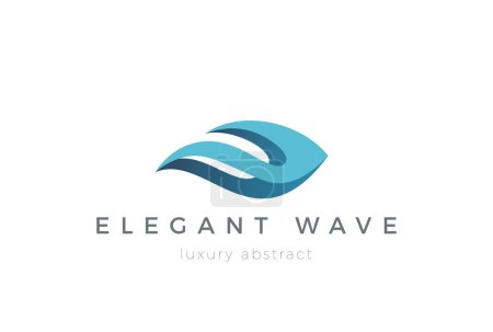 Illustration for Wave Logo design vector template - Royalty Free Image