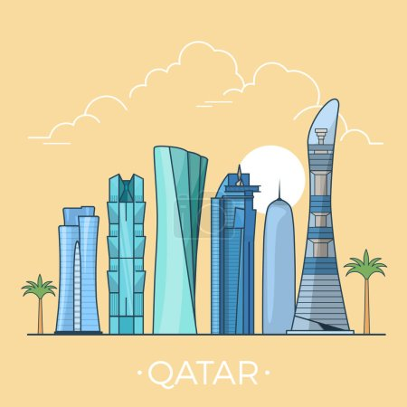 Qatar country design template.