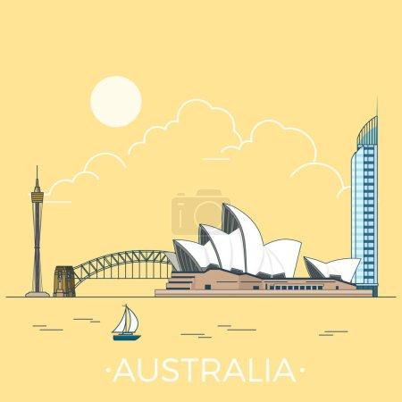 Australia country design template.