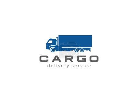 Cargo Truck silhouette Logo